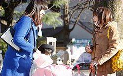 ママ友として公園で知り合う高橋メアリージュンと倉科カナ