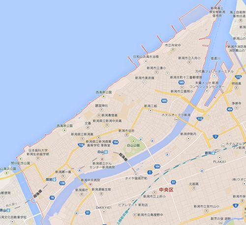 新潟島の地図