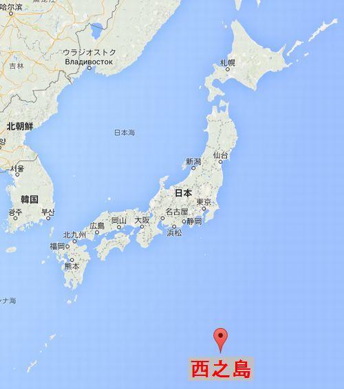 西之島の場所を示す地図