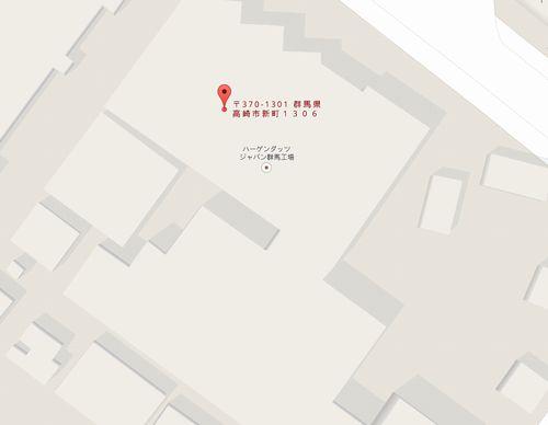 ハーゲンダッツジャパン群馬工場の地図