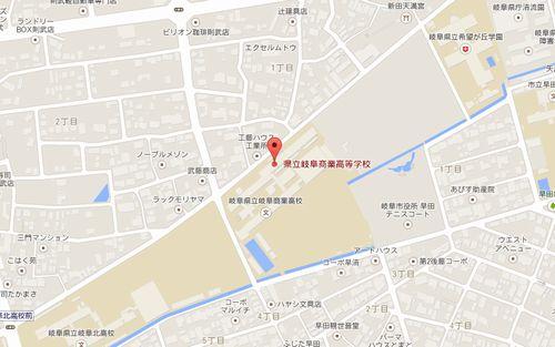 県岐阜商の地図