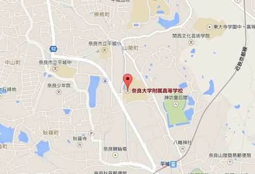 奈良大付の地図