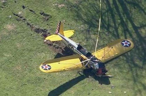 ハリソン・フォードさんのPT-22事故現場の様子