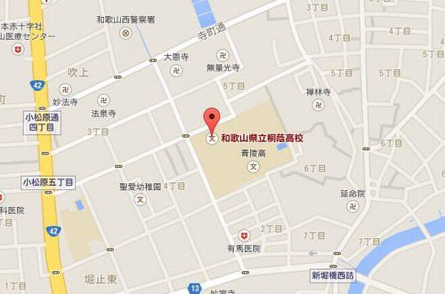桐蔭の地図