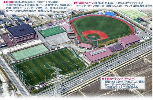 仙台育英の多賀校舎の野球場などの施設