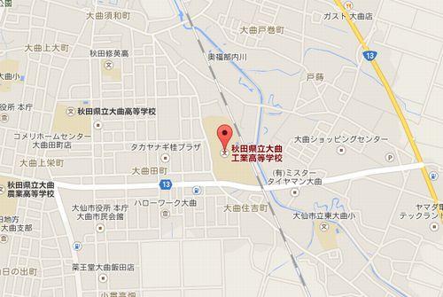 大曲工の地図