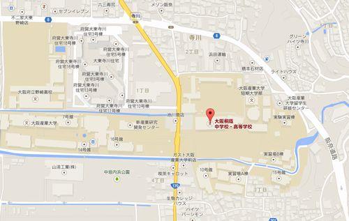 大阪桐蔭高校の地図