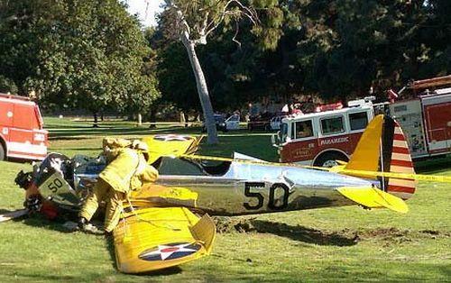 ハリソン・フォードさんのPT-22事故現場のゴルフ場の様子