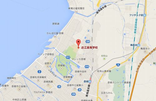 近江高校の地図