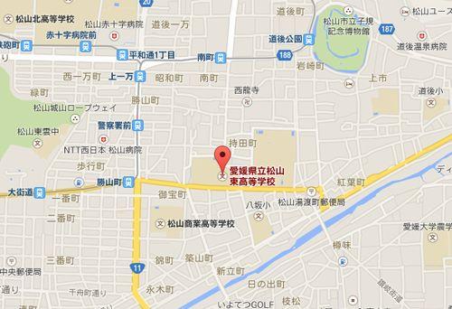 松山東高校の地図
