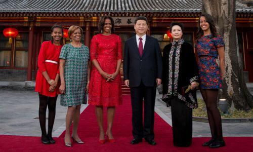ミシェル夫人の中国訪問、習近平国家主席夫妻と