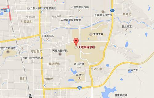 天理高校の地図