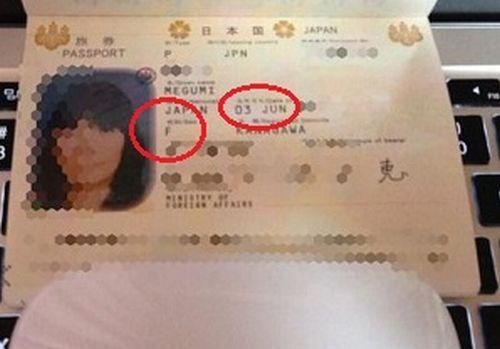坂上さんのパスポートの写真
