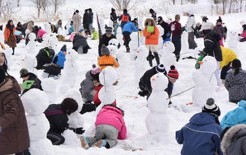 雪だるま作りギネス記録達成!