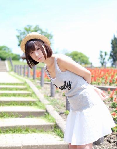 新井ゆうこさん、撮影会の時の写真