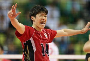 試合中の石川祐希選手の写真