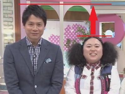 石井亮次アナとニッチェ江上敬子の身長差