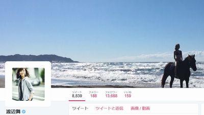 渡辺舞さんtwitterのヘッダー画像