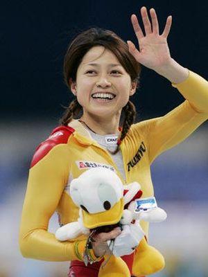 岡崎朋美さん、かわいい!