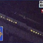 九州新幹線が脱線している様子