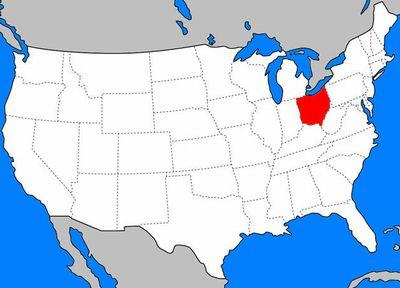 オハイオ州の位置