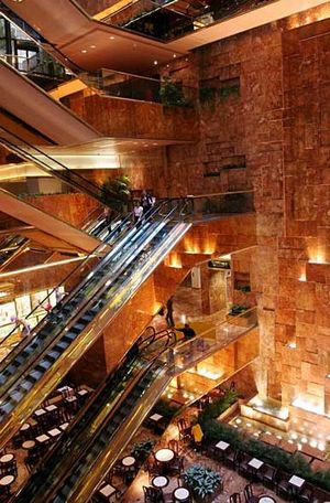 トランプタワーの内部の様子