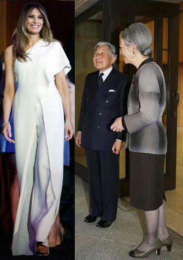 天皇陛下とメラニア夫人