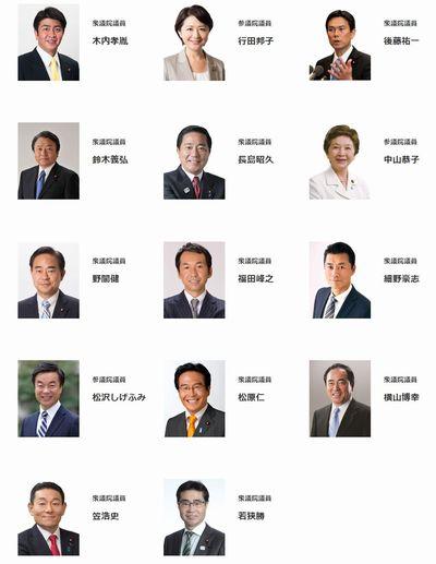 希望の党の所属議員